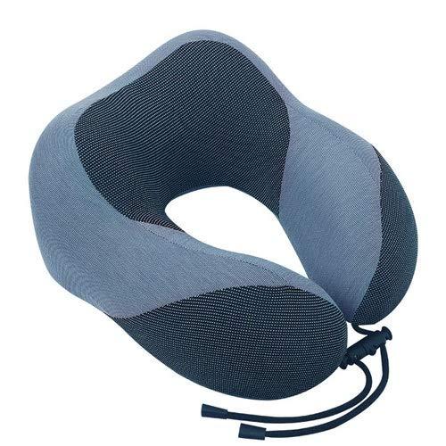 LQXZJ-Artículos de Uso doméstico, Viaje de Verano en Forma de U Almohada Cuello Cómodo Almohada Siesta Adecuado for Sleeping Wagon Aviones Oficina Hogar Etc (Color : Blue)