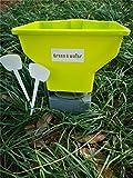 Handle-Held Spreader for Ice Melt/Sand/Salt Snow De-Icers,Precision Hand-held Broadcast Spreader,Lawn Seed,Fertilizer &Salt Spreader.