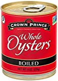 Crown Prince Whole Boiled Oysters, 8-Ounce Cans