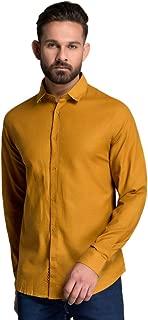 ID Men Yellow Slim Fit Shirt