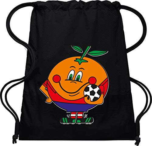 Camisetas EGB Bolsa Mochila Naranjito ochenteras 80´s Retro (Negro)