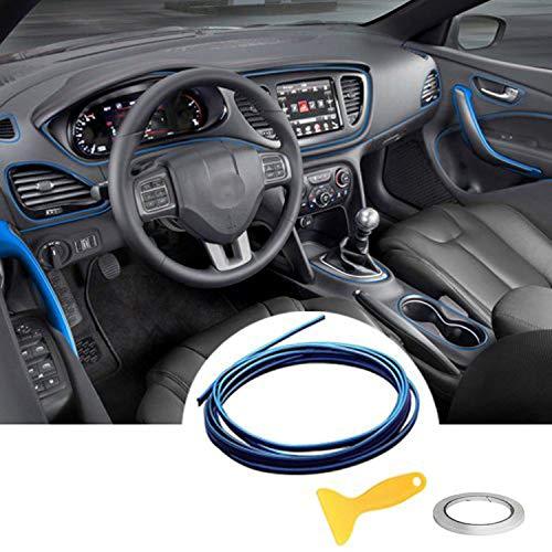Auto Innenraum Zubehör/Interior Dcoration,Auto Zierleiste,YY-LC Einfacher Push-In Entfernbar 3D DIY Auto-Anreden,Für Universal-Autozubehör (Blau)