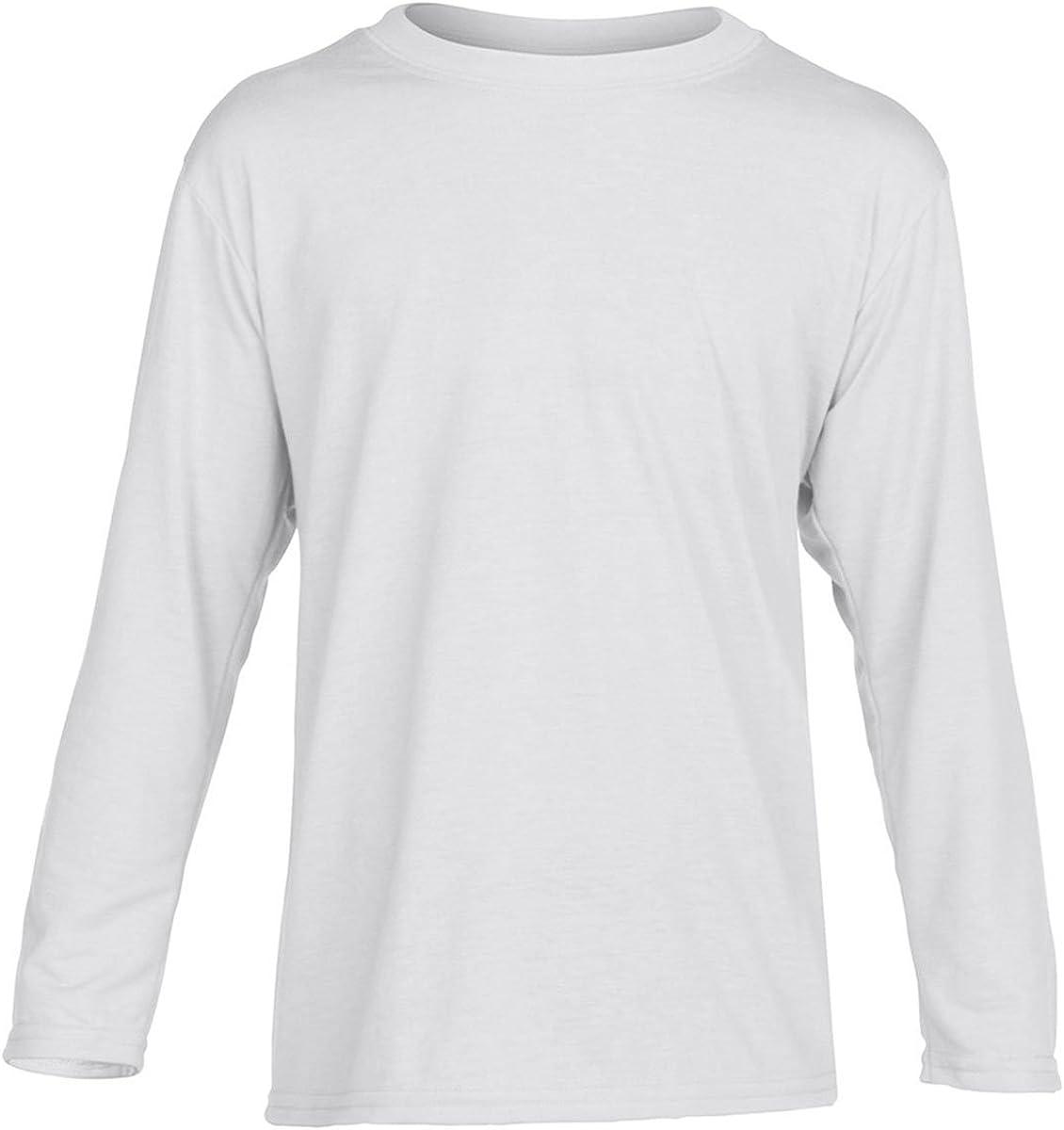 Gildan Performance Youth 4.5 oz. Long-Sleeve T-Shirt, Large, White