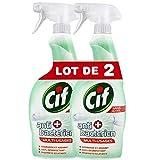CIF Spray Antibactérien Nettoyant Sans Javel (Lot de 2x750ml)