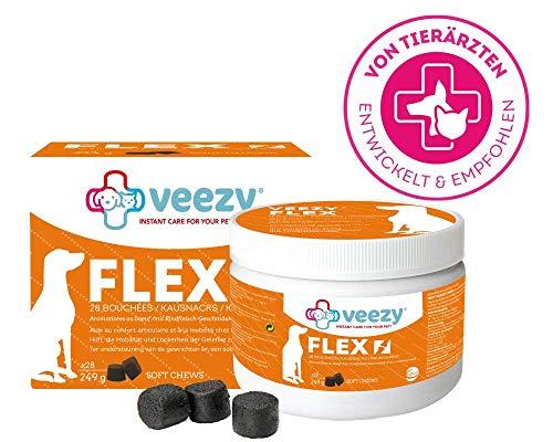 veezy Flex Kausnacks für Hunde - Schutz Gelenkknorpel, 1er Pack (28 Stück)