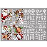 SHUIZHUYU Decoración Navideña Vinilos NavideñOs Ventanas Navidad Pegatinas ExhibicióN Copos Nieve para Ventanas Pared Fiestas NavideñAs Puerta Ventana Oficina Vidrio (Color : A)