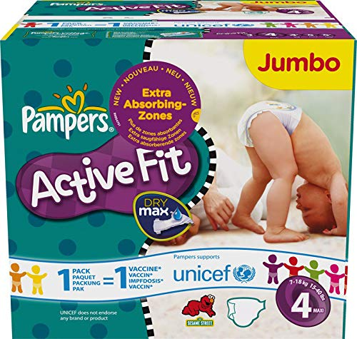 Couches Pampers - Taille 4 active fit - 86 couches bébé