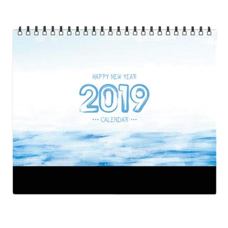 ピンチタイプ確実小さな月間カレンダーアカデミックイヤーデスクカレンダー2018-2019デスクスケジューラー-A14