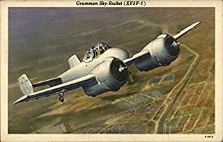 Grumman Sky-Rocket XF5F-1 Air Force Original Vintage Postcard