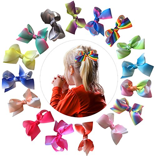 Dxmart Hair Bows Clips Ribbon Bow for Baby Girls Kids Hair Accessories 40Pcs/Pack