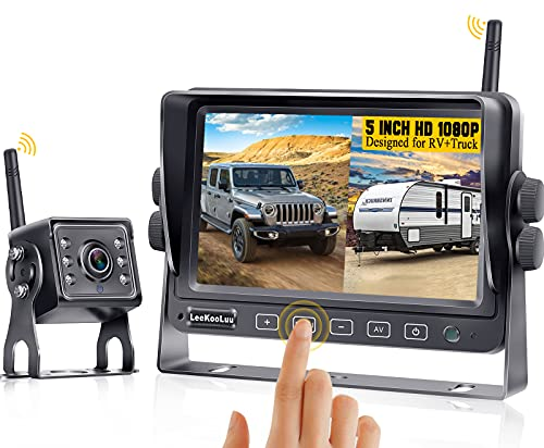 RV Backup Camera Wireless Touch Button System for...