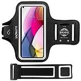 Moto G Stylus (2021)/G Power/G Play Armband, BUMOVE Gym Running Workouts Phone Arm Band for Motorola Moto G Stylus/G Power/G Play with Key Holder (Black)