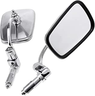 Kesoto 1 par de espelhos retrovisores para guidão de 2,2 cm para motocicleta ATV Scooter