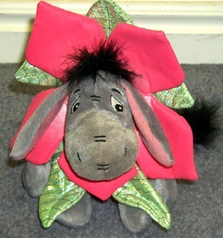 Disney Eeyore Winnie the Pooh 8  Plush Bean Bag Flower Eeyore Doll by Disney
