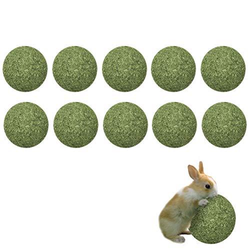 Maotrade 10 Bolas Heno Conejos, Cobayas Accesorios con Zanahoria Natural y Hierba,Adecuado para Accesorios de Conejillo de Indias, Hámster, Totoro y Conejo Juguete