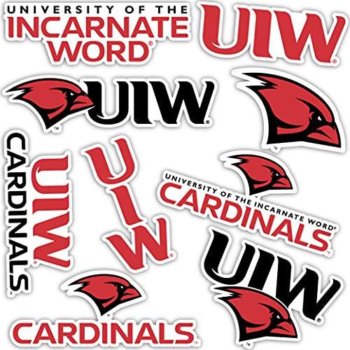 University of The Incarnate Word UIW Cardinals Sticker Vinyl Decal Laptop Water Bottle Car Scrapbook (Type 2 Sheet)