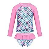 Freebily Bambina Costume da Bagno Tankini Sirena Coda Top Sportivo+Mutandina Mare Volant C...