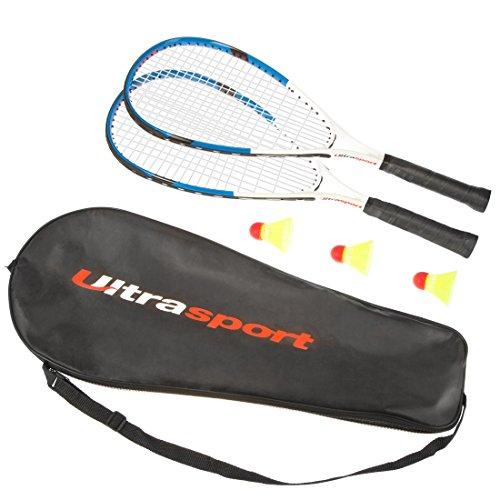 Kit de Badminton avec 2 Raquettes 3 Volants et un sac de rangement