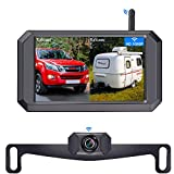 LeeKooLuu 1080P Wireless Backup Camera 5'' Display Digital Signals 2021 New Chips for Trucks,Small RVs,Camper,Two Video Channels Driving Hitch Rear/Front View Observation Super Night Vision-F09
