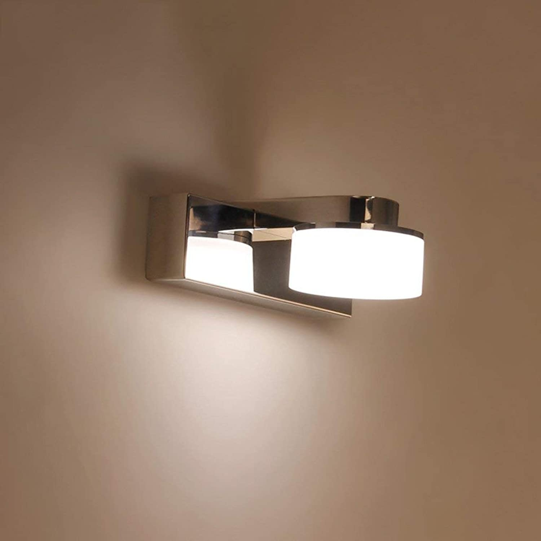 Badezimmerspiegel Beleuchtung Edelstahl LED Licht im Badezimmer Anti-fog Feuchtigkeitsspendende Leuchte Make-up-Lampe (Farbe  Weies Licht-3 w 15 cm)