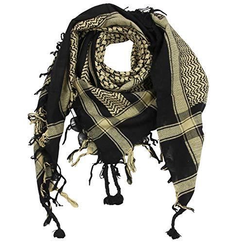 Superfreak Palituch - schwarz - beige - 100x100 cm - Pali Palästinenser Arafat Tuch - 100{385b527c3488861a12fbadf759d2c8669f069ba5e964b7756c66d06fdb89b49e} Baumwolle