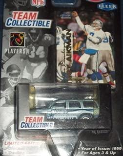 Dallas Cowboys 1999 Diecast NFL GMC Yukon with Troy Aikman Fleer Card by White Rose