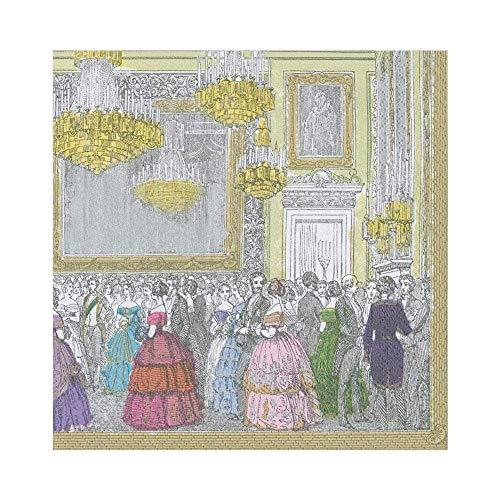 Caspari 13720L Devonshire Ball - Tovaglioli di carta, 20 per confezione