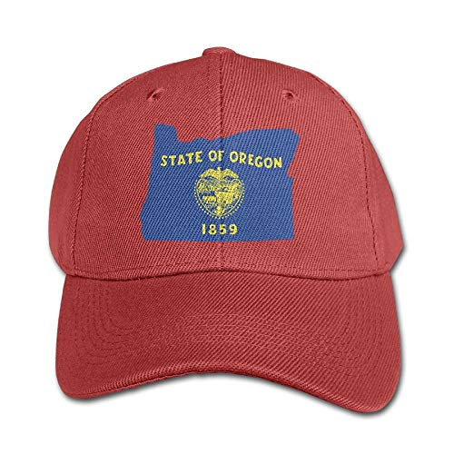 DanMige Unisex Classic Retro Baseball Cap,Oregon State Flag Map Einstellbarer Hut für Erwachsene Cowboyhut