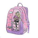 Schoolpack Zaino Americano Scuola-Tempo Libero,Tre Cerniere Con Gadget + Astuccio 3 Zip