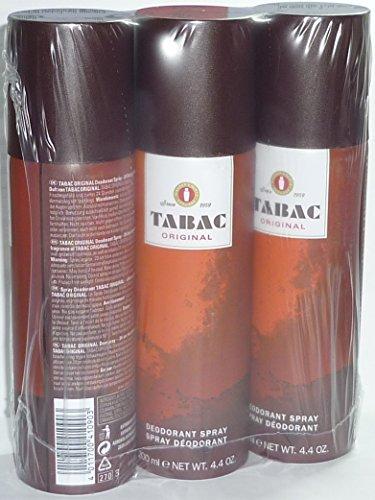 3 x Tabac Original Deodorant Spray je 200 ml ( 3-er Pack = 600 ml )