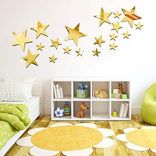 Adhesivos de pared de espejos, 3 x 5 x 6,5 cm / 1,2 x 2 x 2,5 espejo espejo para decoración del hogar (NO.6)
