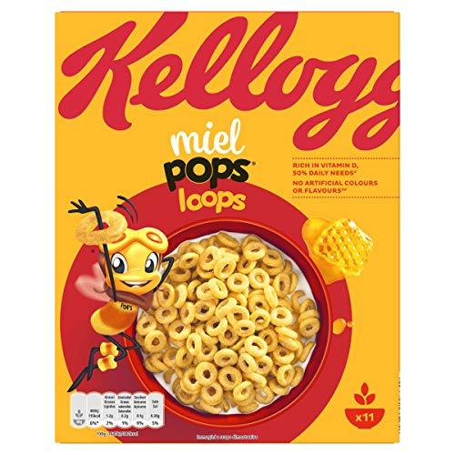 Kellogg's Cereali Miel Pops Loops, 300g