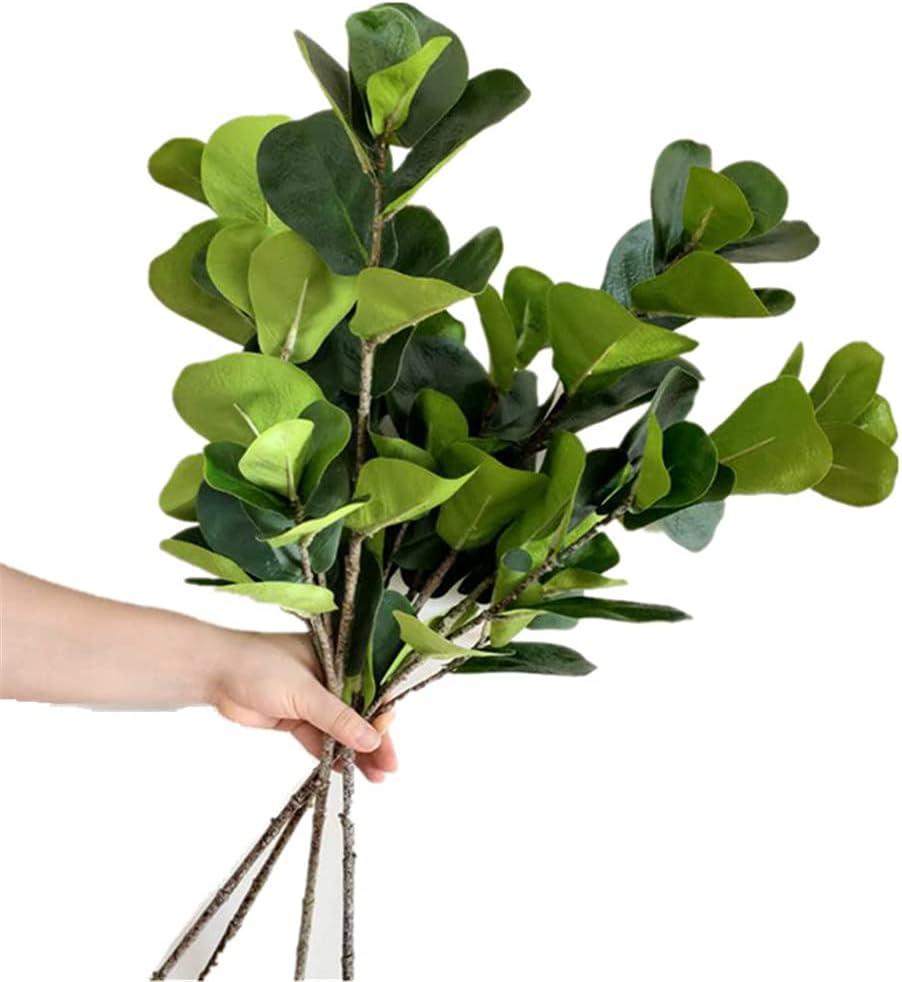 4pcs Faux Ficus Lyrata Leaf Artificial 29