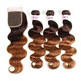 Best Hair Weave Blonde 3 Bundles - 2 Tone Ombre Hair 3 Bundles With Closure Review