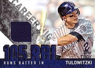 2015 Topps Career High Relics #CRH-TT Troy Tulowitzki Game Worn Jersey Baseball Card