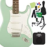 Squier by Fender Affinity Series Stratocaster Surf Green エレキギター 初心者14点セット ミニアンプ付 ストラトキャスター スクワイヤー/スクワイア