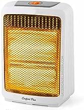 Suinga Estufa halógena. Dos niveles de potencia 500 W y 1000 W. Emisión instantánea calor. Sistema antivuelco.