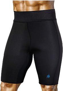 Pantalones de Sauna para Adelgazar para Hombres Neopreno de Sudor Caliente para Bajar de Peso Quemador de Grasa Body Shaper Sudor Capris Shorts