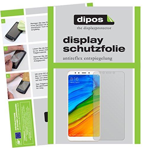 dipos I 6X Schutzfolie matt kompatibel mit Xiaomi Redmi 5 Plus Folie Bildschirmschutzfolie