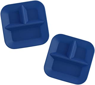 KIDDIEBITES | 100% Silicone Plates for Babies & Kids | Made in The USA | BPA, BPS, Lead, Cadmium, PVC, Phthalate Free | FDA Approved Silicone | Child's Divided Placemat Set | Blue, 2 Pack