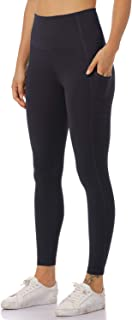 Hawthorn Athletic Women's Essential High Waist Yoga Pants Active 7/8 Length Legging with Side Pockets-25''