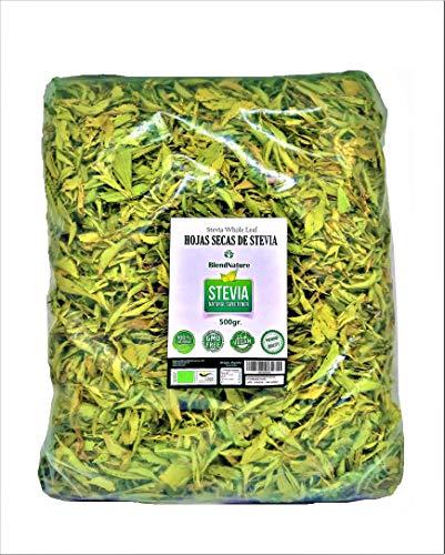 Feuilles de Stévia 100% Naturelles Pures - ECO Biologique Sélectionné Qualité Premium 500 G – Végétarien
