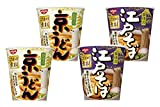 NISSIN Kyo-Udon×2 and Edo-Soba ×2, delicious soup stock taste. No.a430