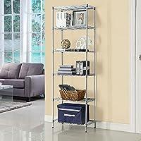Singaye 6-Shelf Storage Shelf Wire Shelving Unit with PP Liner (21.25