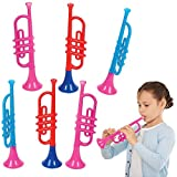 ArtCreativity 13 Inch Plastic Trumpets, Set of 6,...