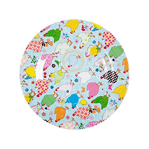 RICE Melamine Side Plate with Hen Print - Two Tone