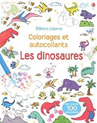 Les dinosaures - Coloriages et autocollants