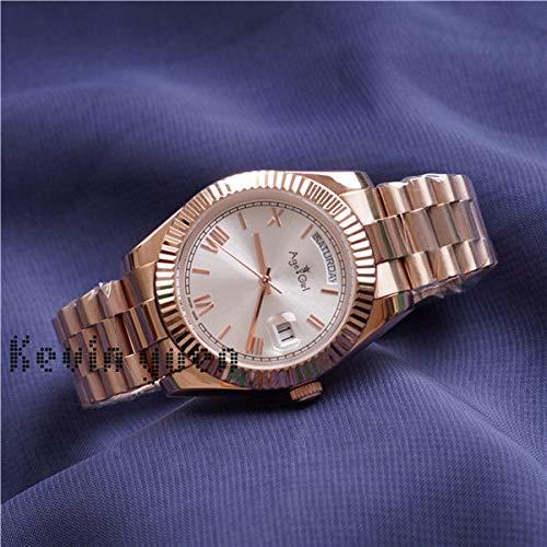 GFDSA Automatische horloges Day Date Yellow Rose Gold horloge Mannen Vrouwen Luxe horloge Day-date President Automatische mechanische horloges Mechanische Roma zwarte wijzerplaat