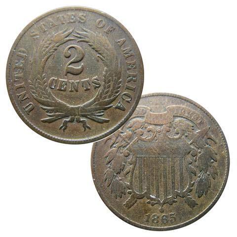 Civil War Era 1864 U.S. Two-Cent Piece Coin