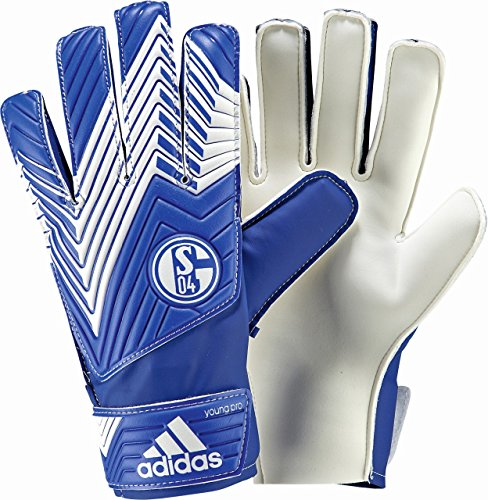 adidas Herren Torwarthandschuhe FC Schalke 04 Predator Young Pro, White/Cobalt, 10